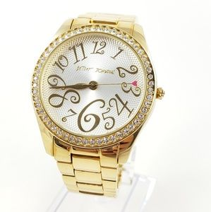 Betsey Johnson Watch Gold Tone